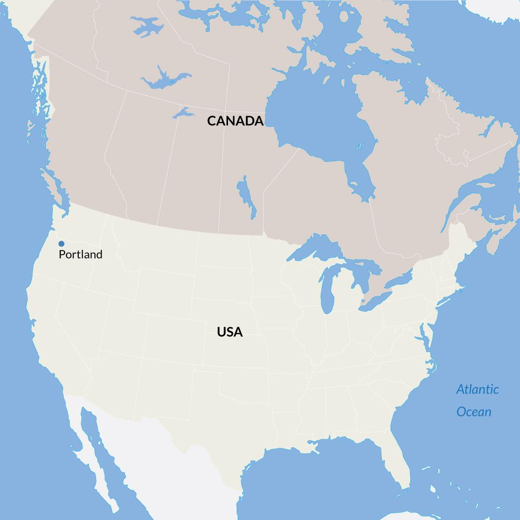 Portland vacations map