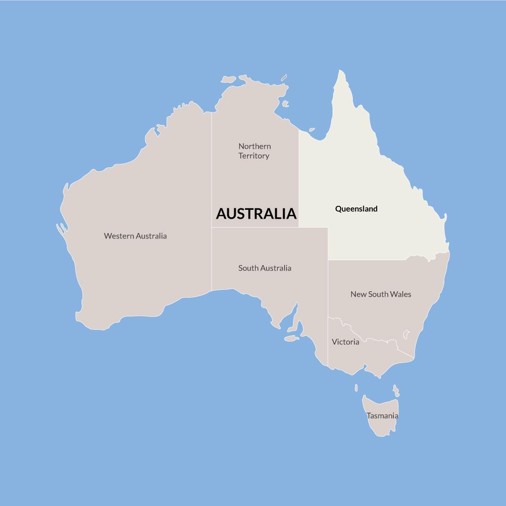Queensland vacations map