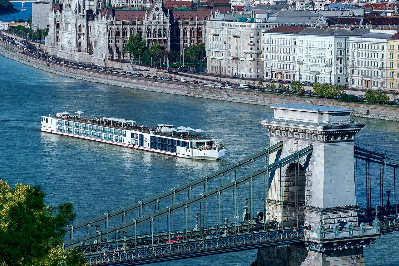 A Viking River Cruise voyage at sea