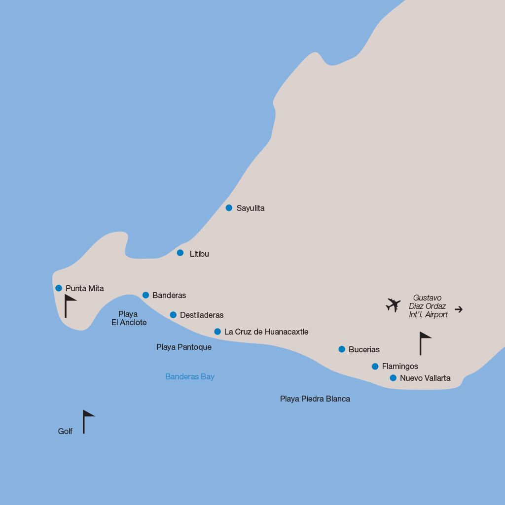 Riviera Nayarit vacations map