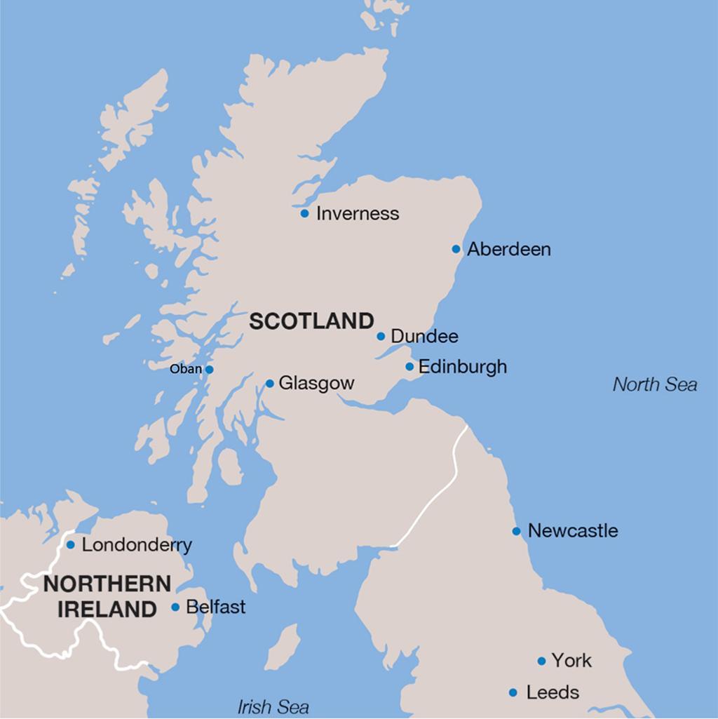 Scotland vacation map