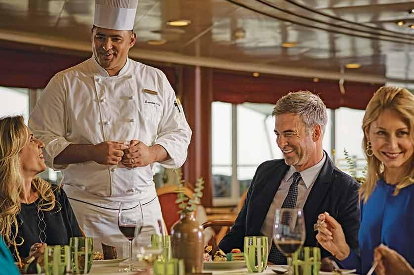 Luxury dining on Silversea cruise lines