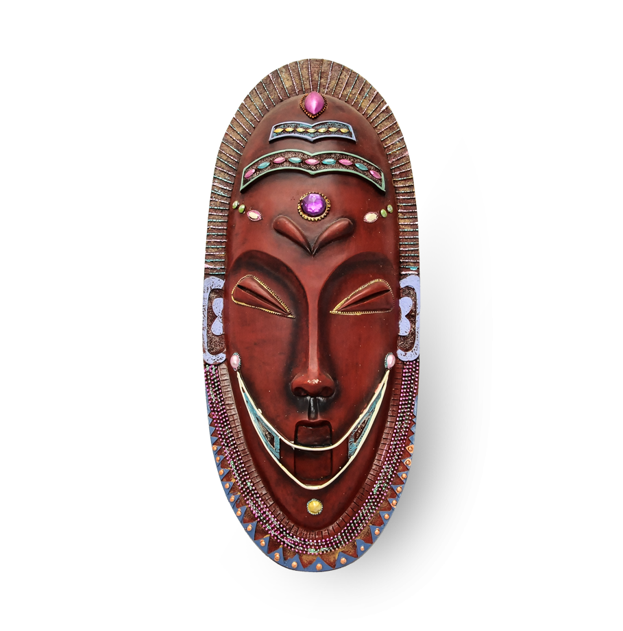 Traditional African mask in Tanzania