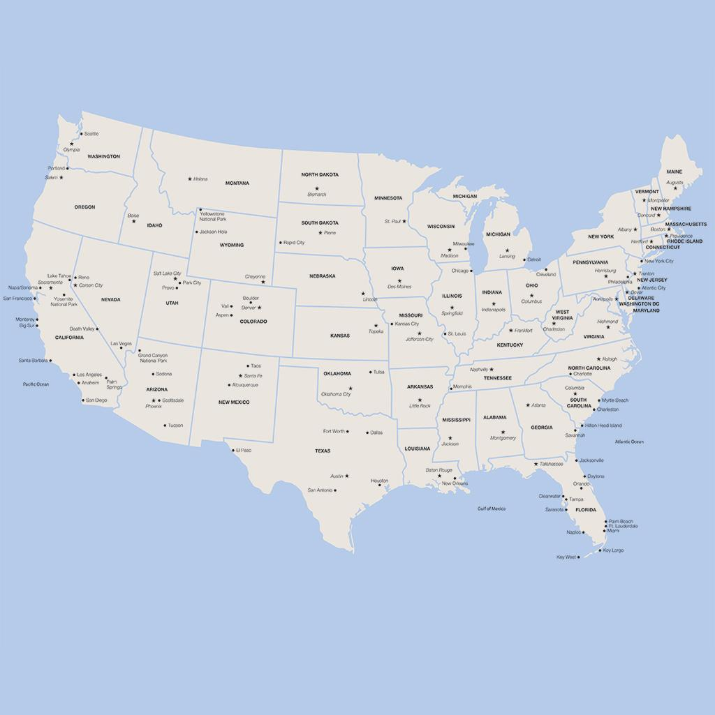 United States vacation map
