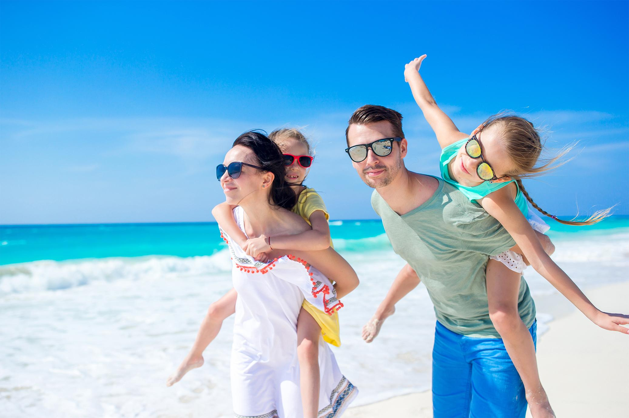 A family enjoying a Liberty Travel vacation