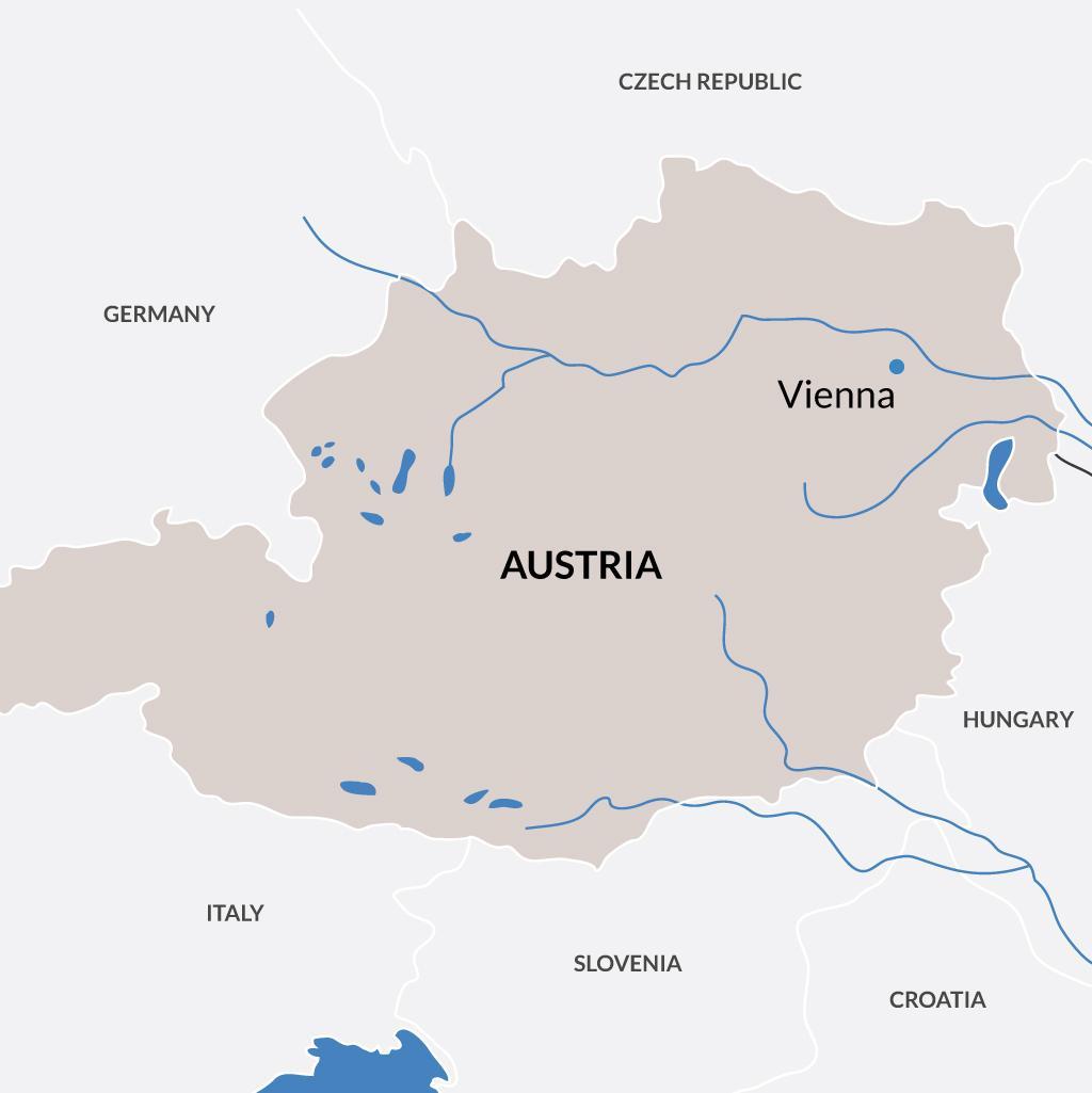 Vienna vacations map