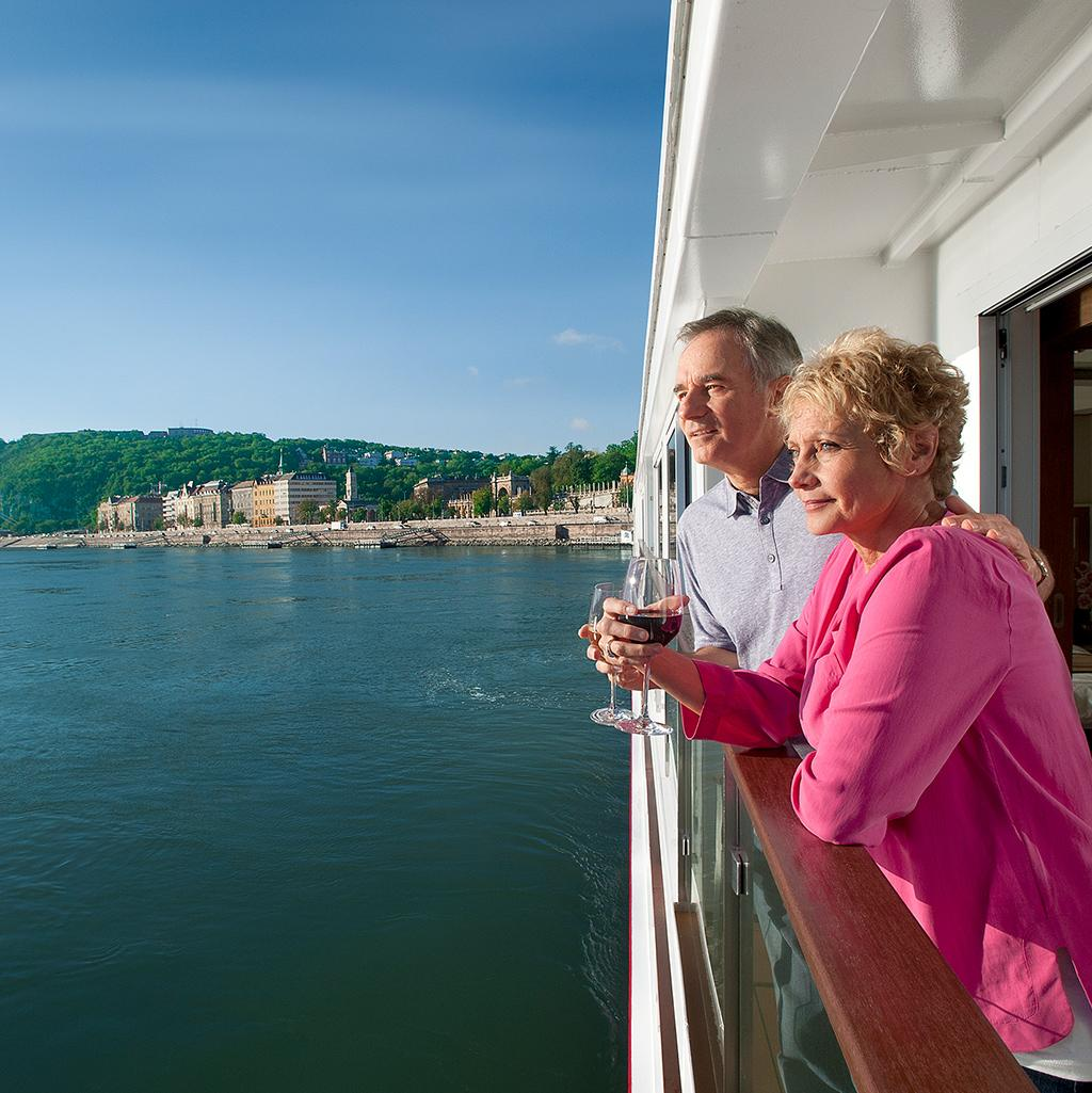 Wake up to beautiful landscapes on your voyage