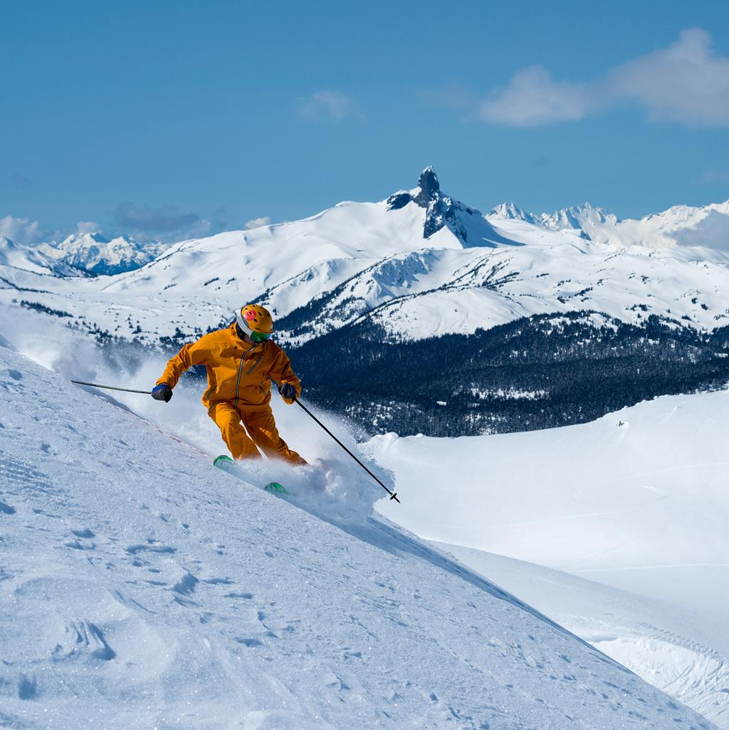 Person skiing at Whistler Blackcomb