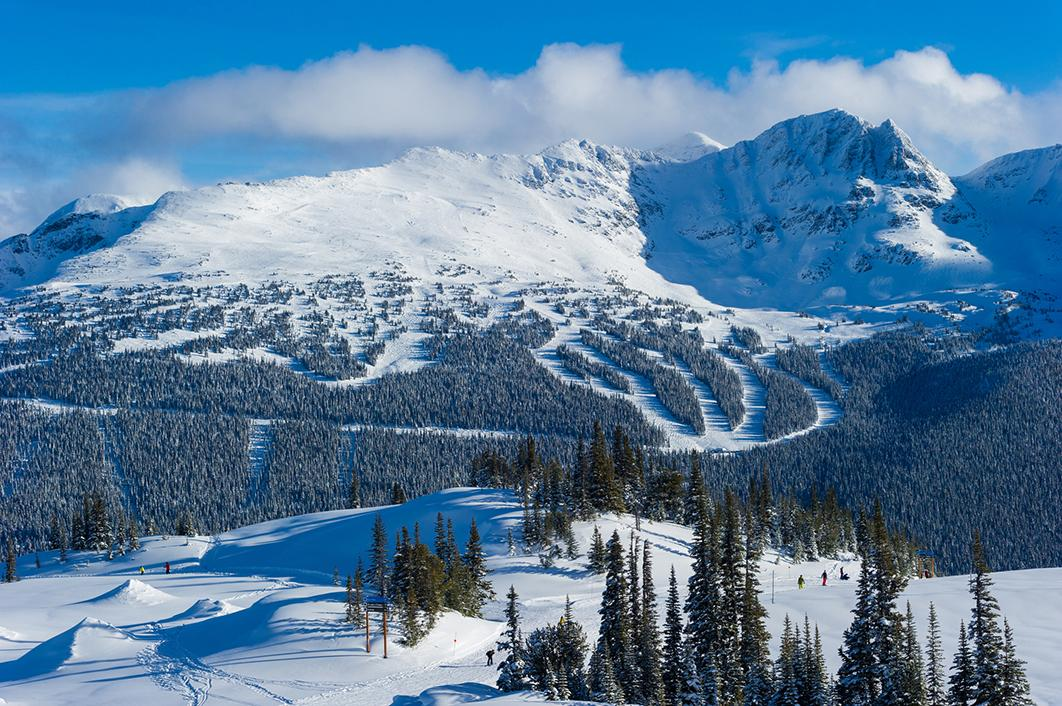 The famous ski slopes at Whistler